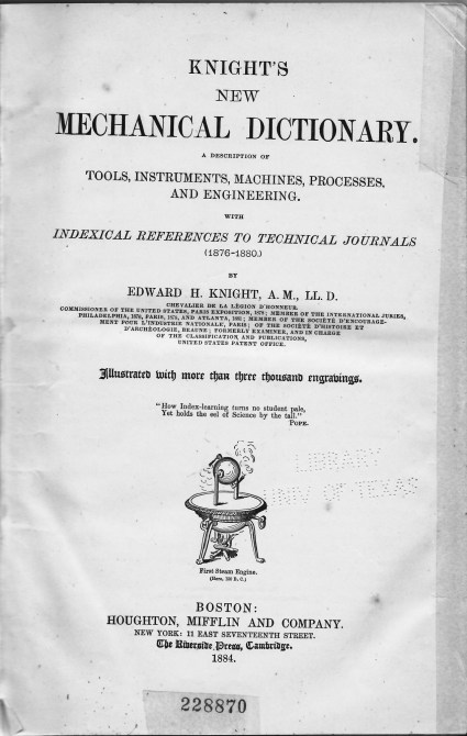 Knight's Mechanical Dictionary