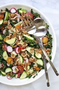 Raw Vegetable and Farro Salad