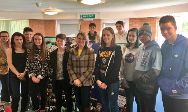 Rachel encourages Redditch teenagers to take part in National Citizen Service