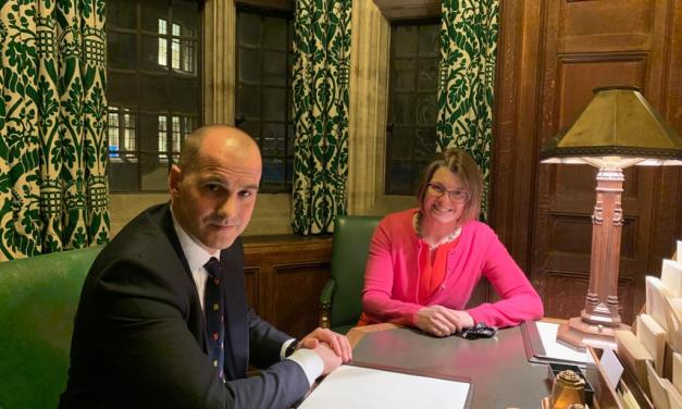 Rachel meets with Minister to discuss Redditch's High Street Fund bid