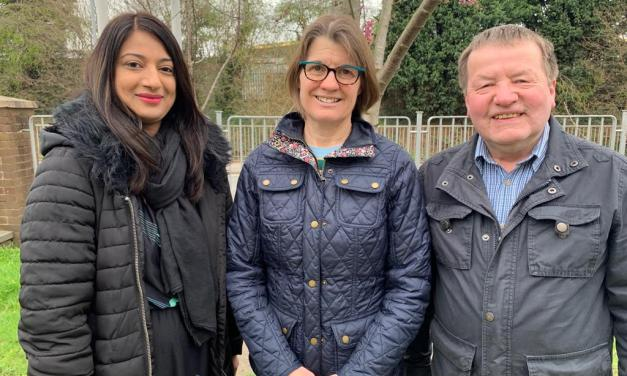 Rachel and local councillors frustrated by Persimmon's response to concerns