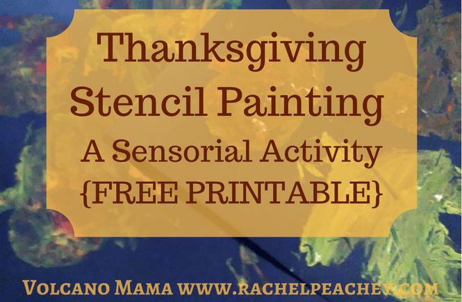 thanksgiving stencil painting