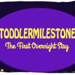 Toddler Milestones- The First Night Away