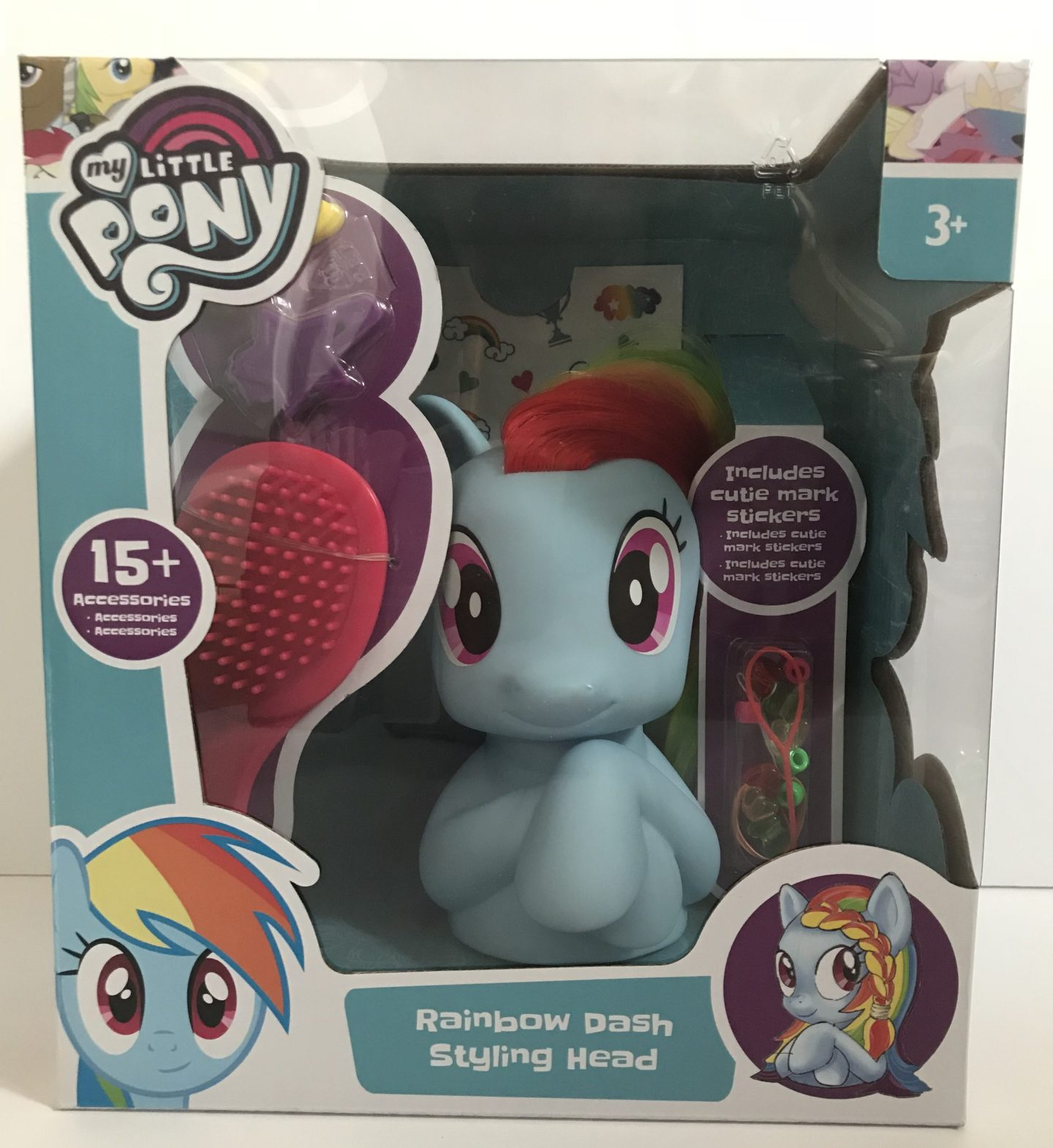 Perfecting The Perfect Pony Tail With The My Little Pony Rainbow Dash Styling Head