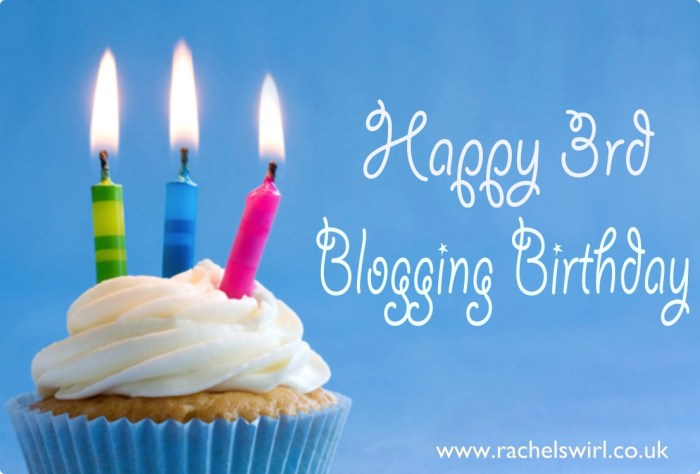 Happy 3rd Blog Birthday