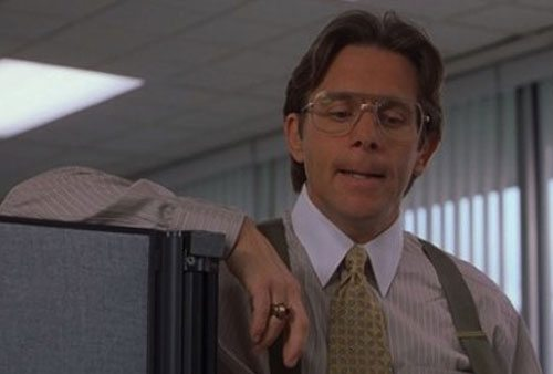 """Still from """"Office Space,"""" very funny movie involving spectacularly bad management."""