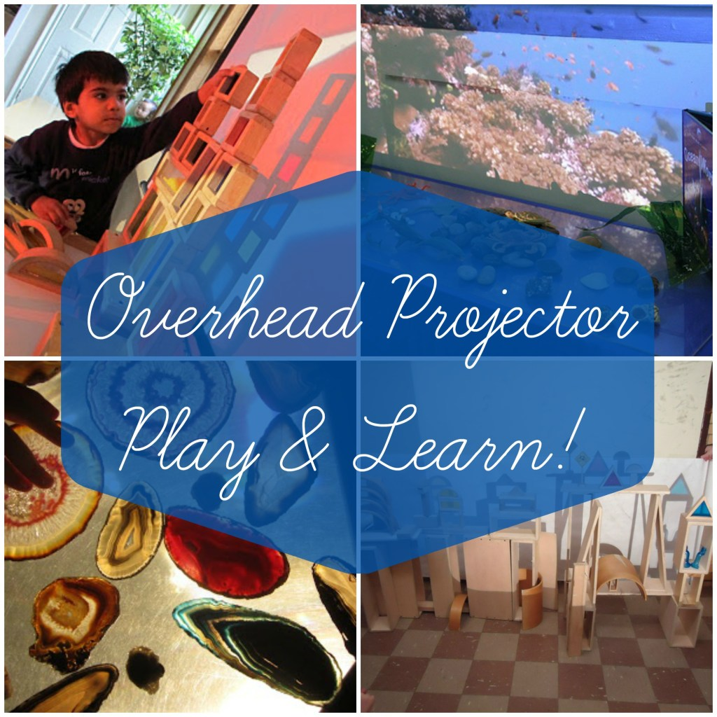 Overhead Projector Play and Learn | Reggio Inspired
