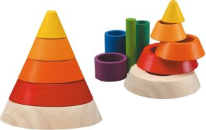 wooden plan toys cone sorting toy