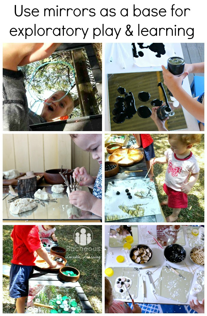 creating on mirrors, using a mirror as a surface for an activity