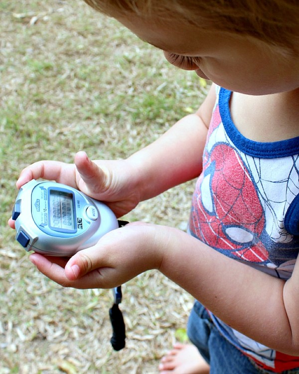 Stopwatch sport play learning homeschool