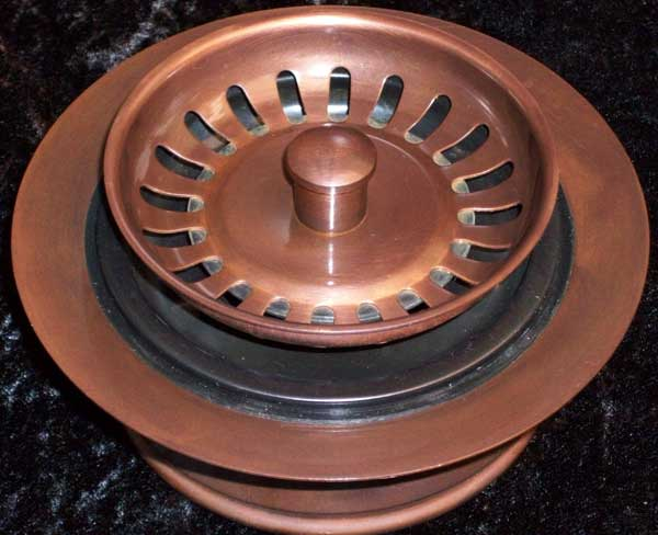 solid copper kitchen drains and