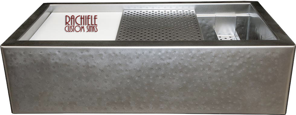 Custom Stainless Steel Workstation Kitchen Sinks That Look Like Zinc