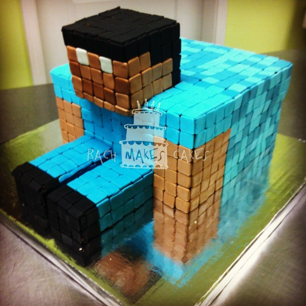 Swell Minecraft Steve Rach Makes Cakes Funny Birthday Cards Online Eattedamsfinfo
