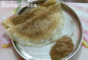 simplest rava dosa recipe