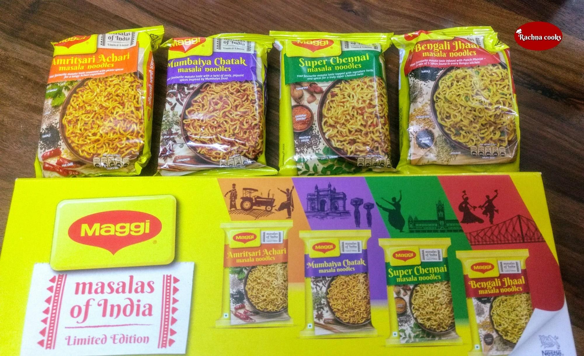 Nestlé India launches 4 new Maggi flavours #MasalasofIndia