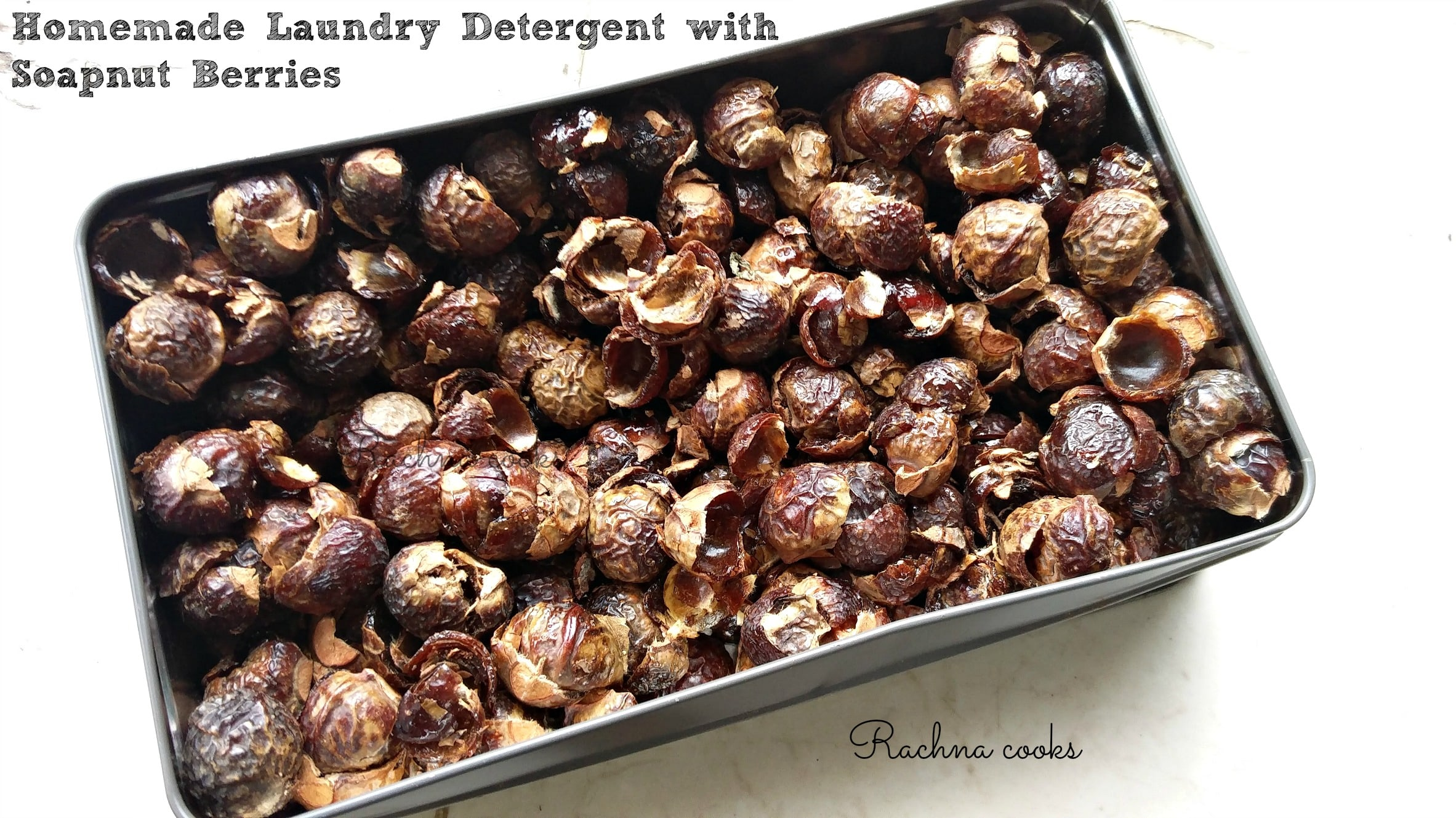 Green and Economical, Easy Homemade Laundry Detergent with Soapnuts