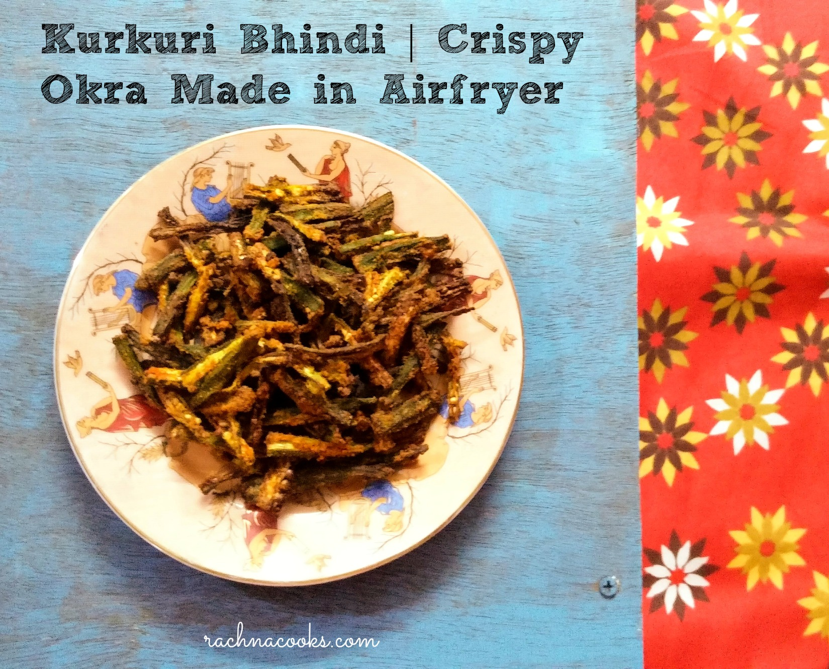 Kurkuri Bhindi UP Style | Crispy Okra UP Style Made in Airfryer