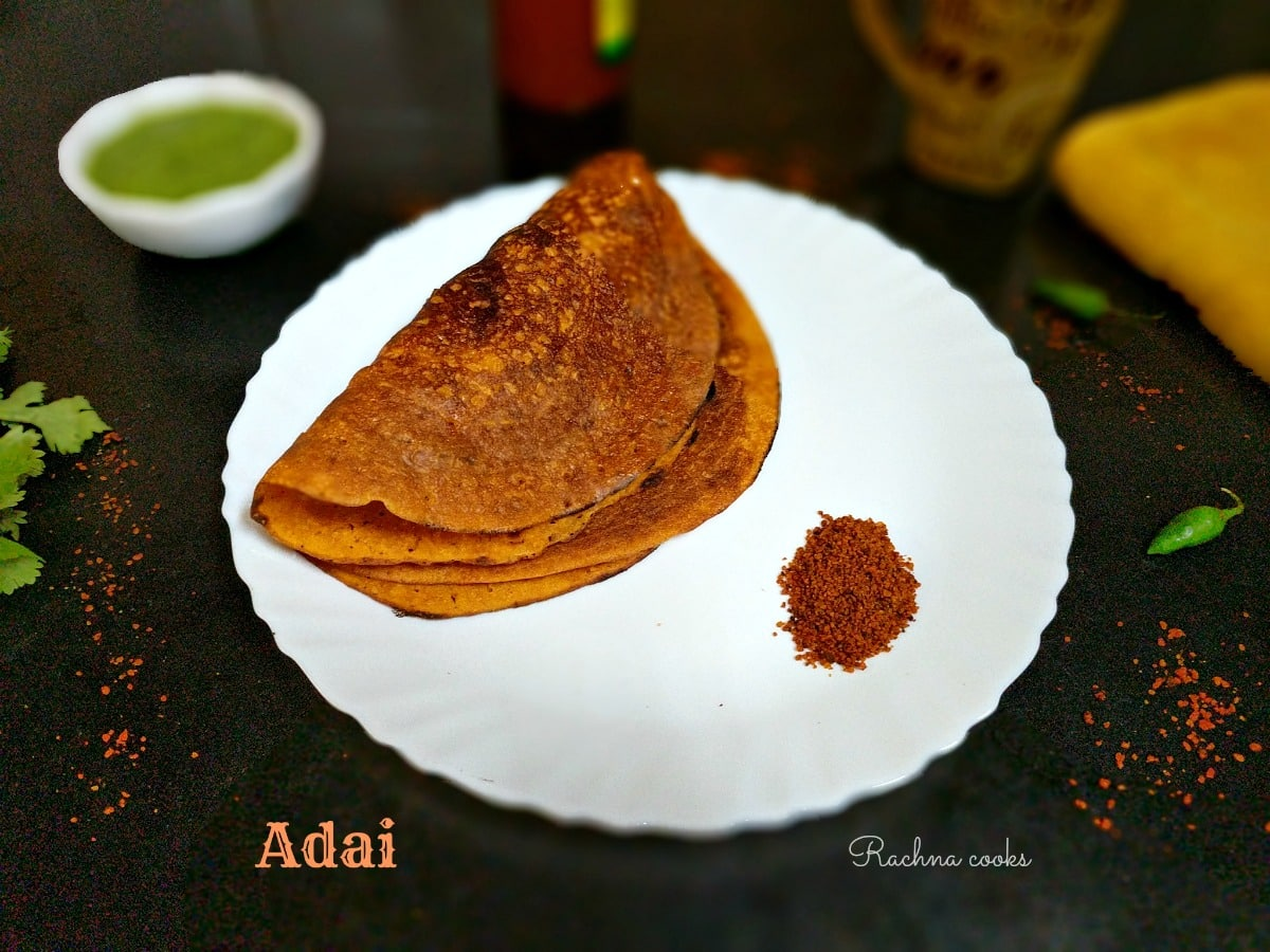 Adai | Adai Dosa Recipe | Easy Recipe to Make Adai Dosa