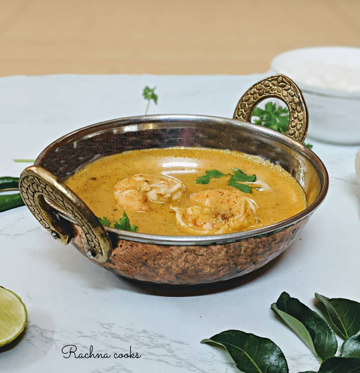 Mangalorean Prawn Curry Recipe | Indian Shrimp Curry Recipe