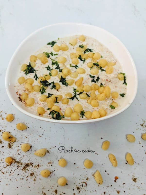 Indian Boondi Raita Recipe  (Step-by-step Pictures)