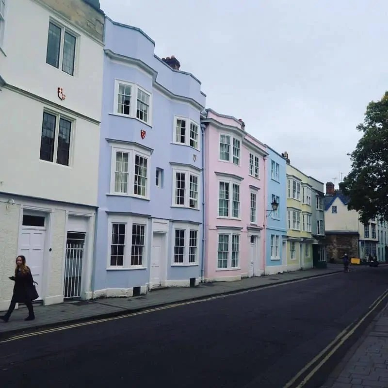 Oxford's pastel coloured houses