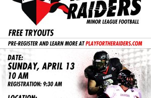 Racine Raiders tryout poster