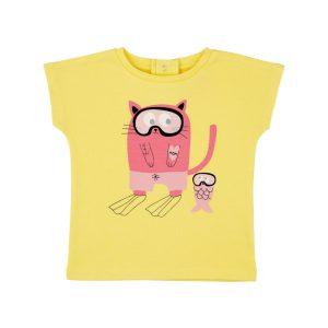 T-shirt Fille Jaune Pâle - GOTS - Biologique - Economique - Bébé