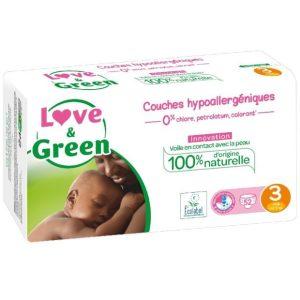 Love & Green Taille 3 Biodégradable , écologique et naturel