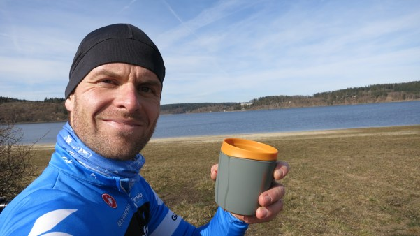 Radreise Bleilochtalsperre Thüringen Camping Kaffee