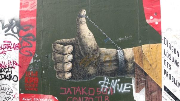 Berliner Mauer Daumenschraube war angelegt