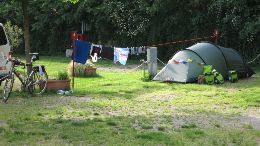 Camping Platz bei Bozen