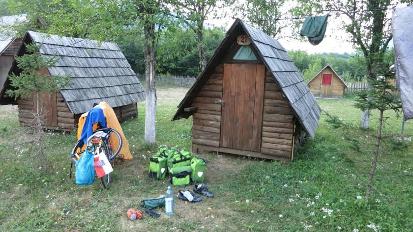 Camp nahe der Grenze zu Montenegro