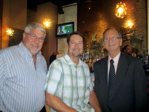 Clearwater Councilmember Hoyt Hamilton, Brad Kendell, and Clearwater Mayor George Cretekos.