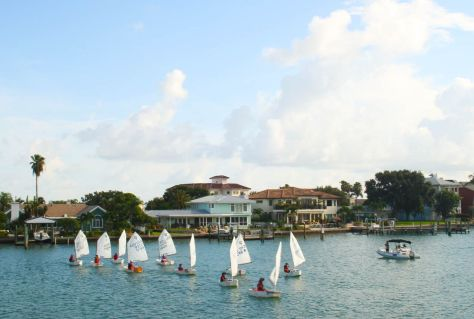 Youth Sailing Camp in practice at the Clearwater Yacht Club