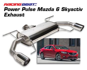 power pulse exhaust system 2014 17 mazda 6 2 5l skyactiv