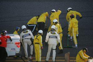2010 Daytona 500 Track Workers Fix Hole