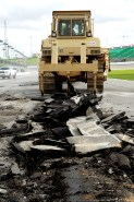 2012_Kansas_April_NASCAR_Sprint_Cup_Race_Bulldozer_Track_Ripped_Up