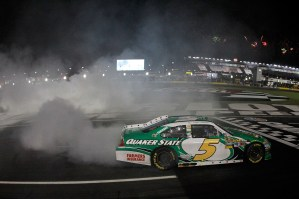 2012_Charlotte_May_NASCAR_Sprint_Cup_Series_Race_Kasey_Kahne_Donuts