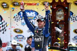 2012 Martinsville2 Jimmie Johnson Celebrates In Victory Lane