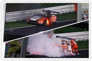 triple a vantage GT3 fire