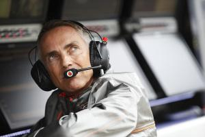 Mart Whitmarsh on the pit wall