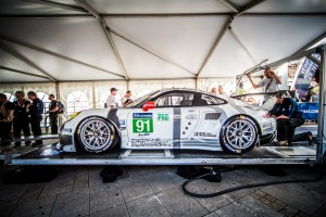 Scrutineering -  The #91 LMGTE PRO Porsche Team Manthey (DEU) Porsche 911 RSR