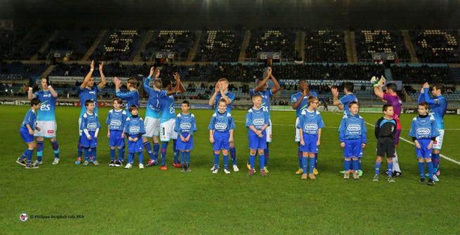 L'équipe du RCSA alignée contre le Paris FC
