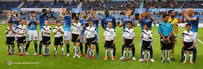 L'équipe du RCSA contre Bourg-Péronnas