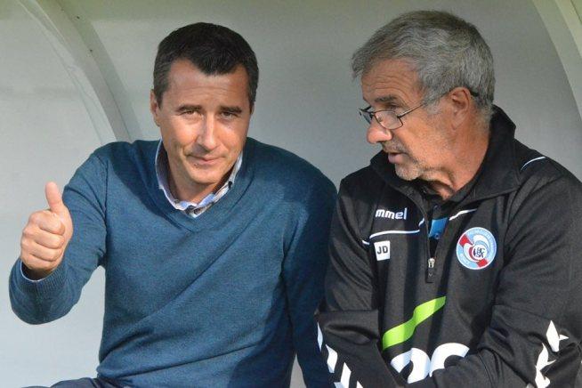le président, Marc KELLER el le coach, Jacky DUGUEPEROUX