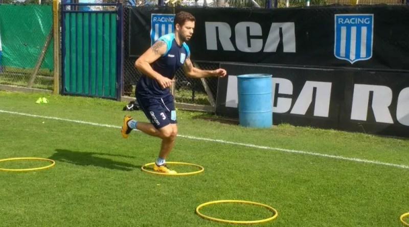 Leandro Grimi entrenando