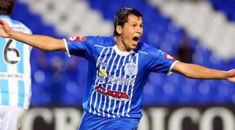 Leonardo Sigali, con la camiseta de Godoy Cruz. Hoy, en Racing.