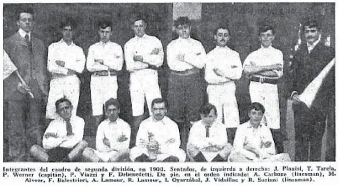 Formación antigua del Racing Club.