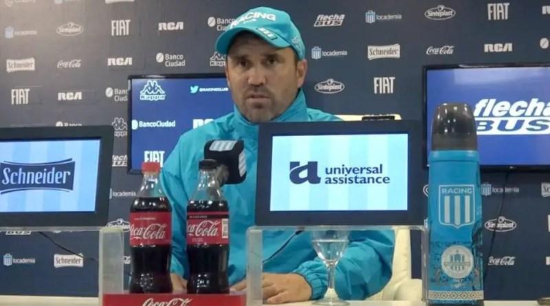 La conferencia de Coudet tras el partido ante Tigre.