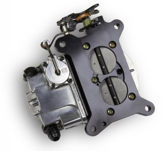 The base and body of the Ultra HP 2BBL Carburetor are all manufactured from aluminum that saves nearly 50 percent in weight. A 30cc pump and anti-siphon valve in the main body reduce pump pull-over.